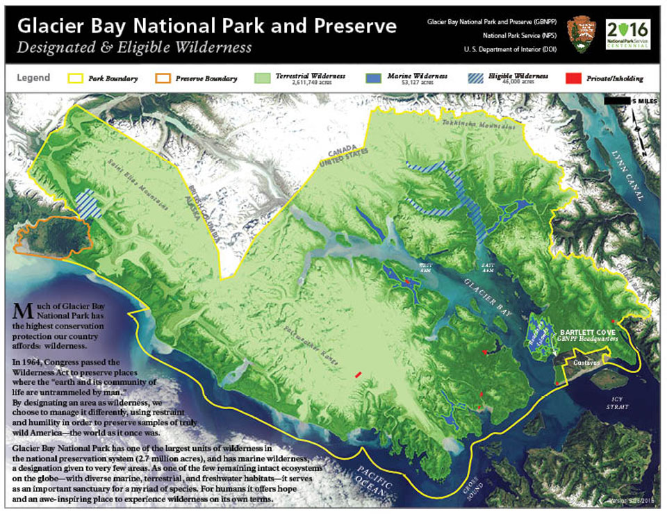 Glacier Bay Wilderness Glacier Bay National Park Preserve US