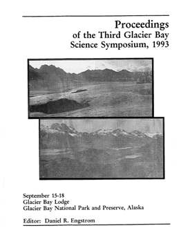 1993 Glacier Bay Science Symposium