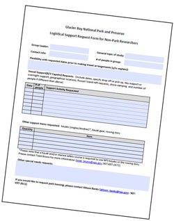 Logistical support request form