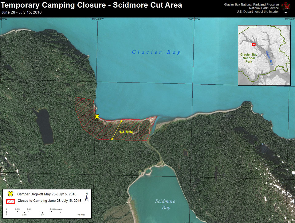 Temporary Camping Closure Map