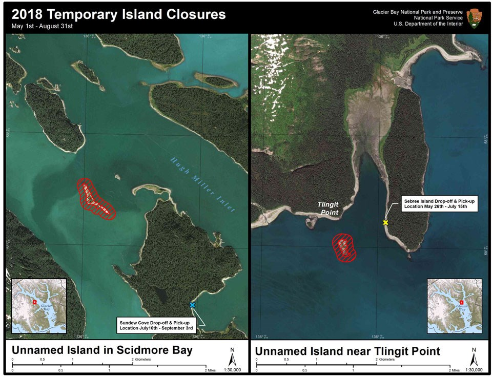 2018 temporary island closures