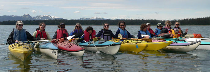 Kayaks stored seasonally in Bartlett Cove now require a free registration tag.