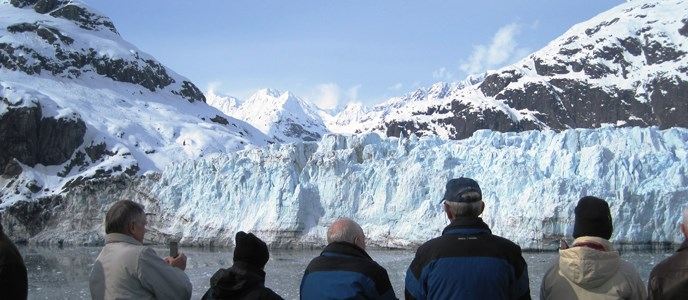 passengers enjoying Margerie Glacier