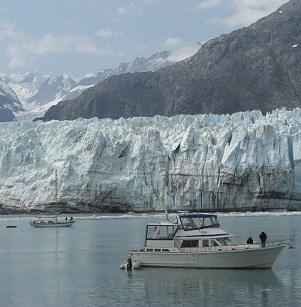 Vessels at a Tidewater Glacier