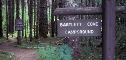 Entrance to Bartlett Cove Campground