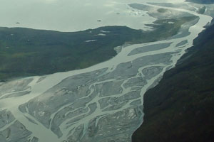 The Alsek River has been an important trade corridor for early peoples