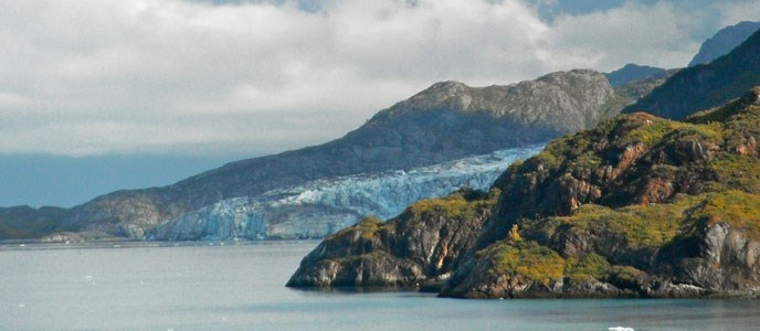 Glacier Bay weather. A mix of overcast and partly sunny