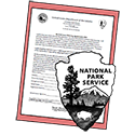 Mooring agreement thumbnail image shows NPS arrowhead on top of black and white document