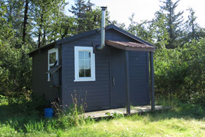 Dry Bay public-use cabin is available for rustic accommodation