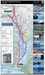Tour boat route