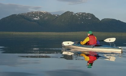 kayaking is the best way to explore Glacier Bay's wilderness waters.