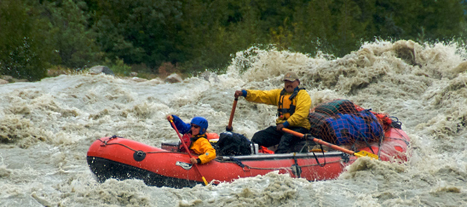 Rafting here provides an outstanding wilderness experience.