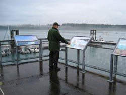 Enjoy the interpretive displays on the dock