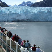 The glaciers are best experienced from the outer decks