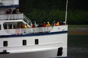 tourboat bow with passengers