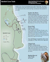 Bartlett Cove Trails Map