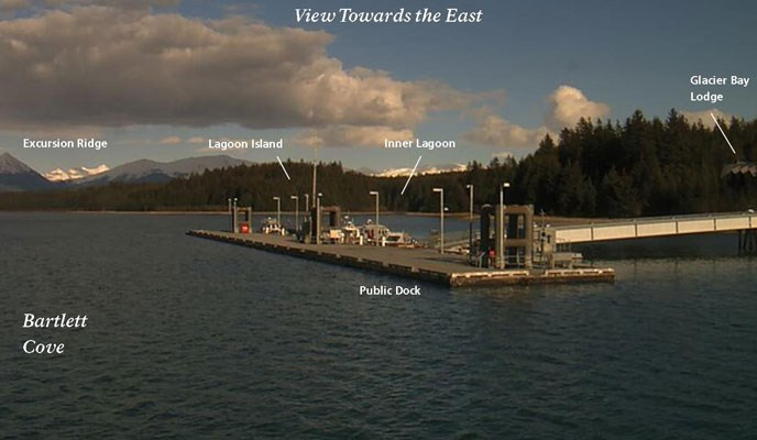 Check the latest Bartlett Cove conditions with our park webcams