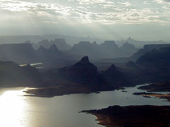 Natural features ecosystems glen canyon national for Lake powell fishing license