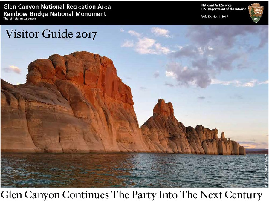 Cover of Glen Canyon 2017 Newspaper. Scenic photo.