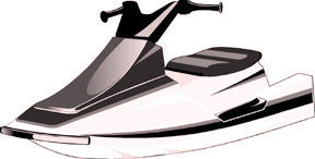 Illustration of a sit-on-top personal watercraft.