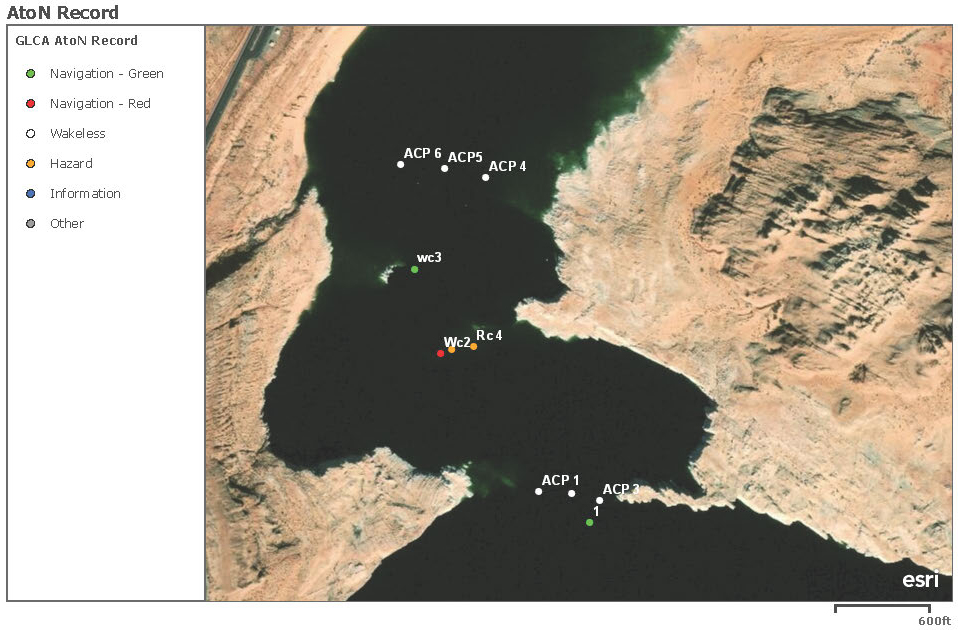 map of bouys along anchovy point