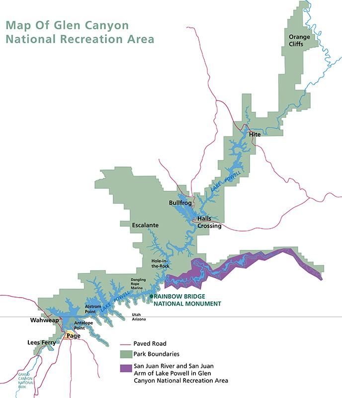 San Juan River Utah Map.Gold King Mine Spill Update Glen Canyon National Recreation Area