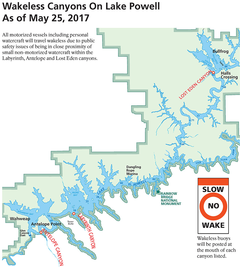 Three Lake Powell side canyons go wakeless this week Glen Canyon