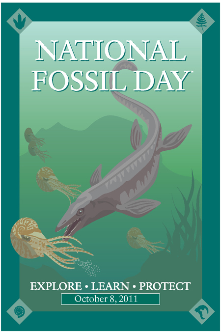 National Fossil Day Poster