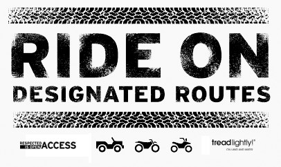 logo: RIDE ON DESIGNATED ROUTES