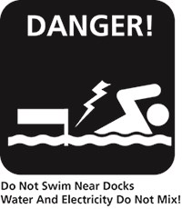 do not swim near docks icon