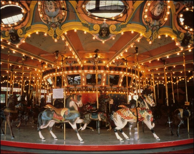carousel during restoration and preservation
