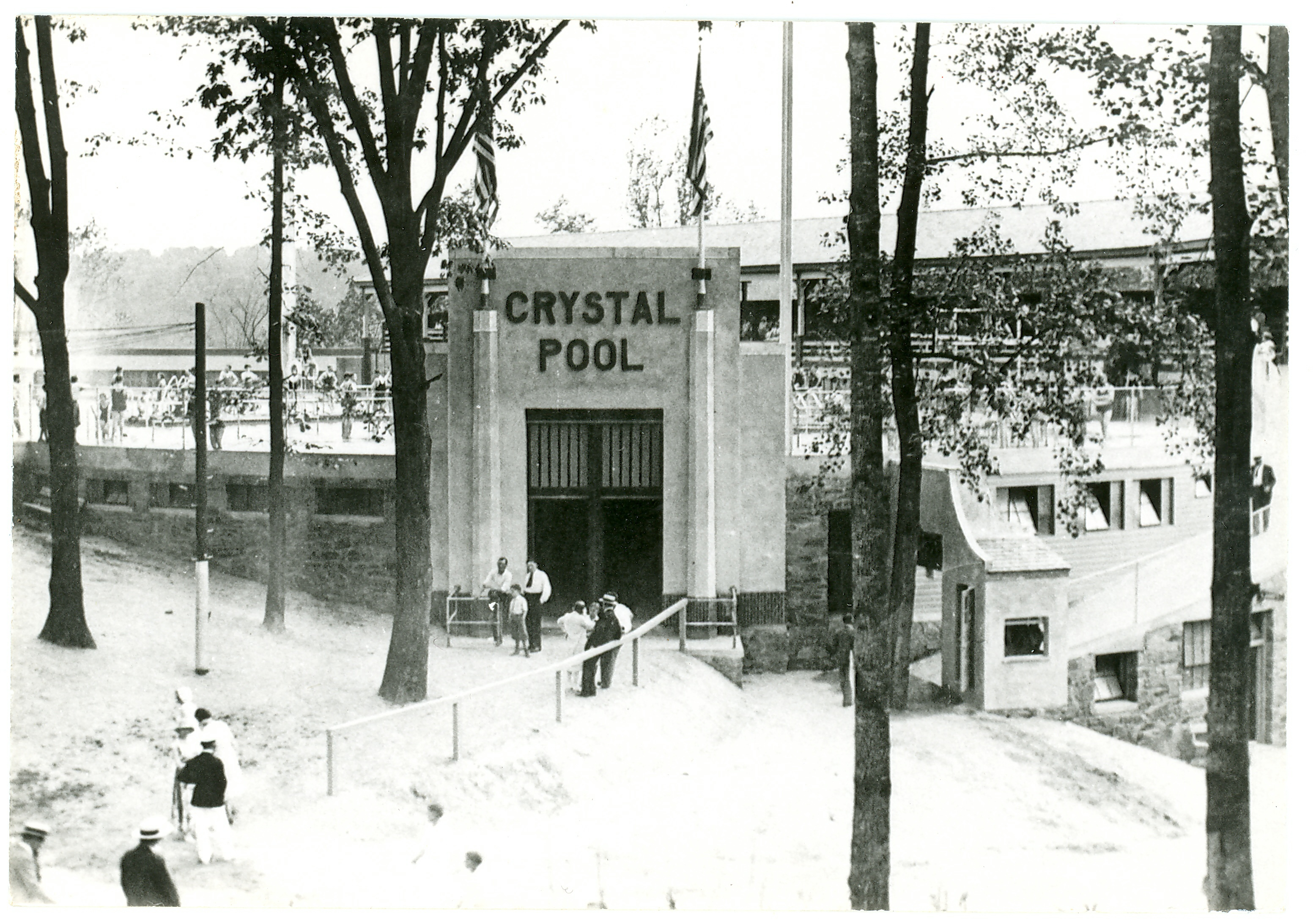 Crystal Pool entrance 1935