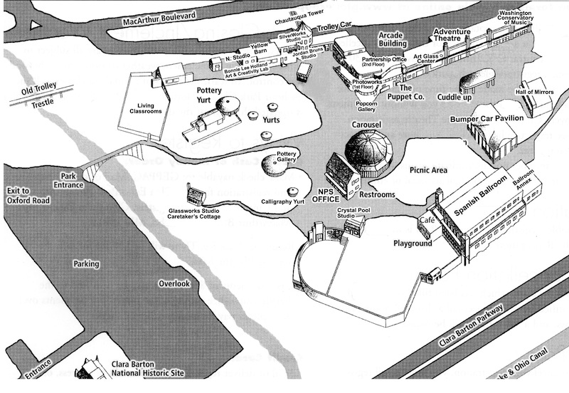 Glen Echo Park Grounds Map