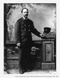 A portrait of James Rankin, Lighthouse Keeper at Fort Point