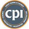 Concrete Preservation Institute logo with orange and grey circle