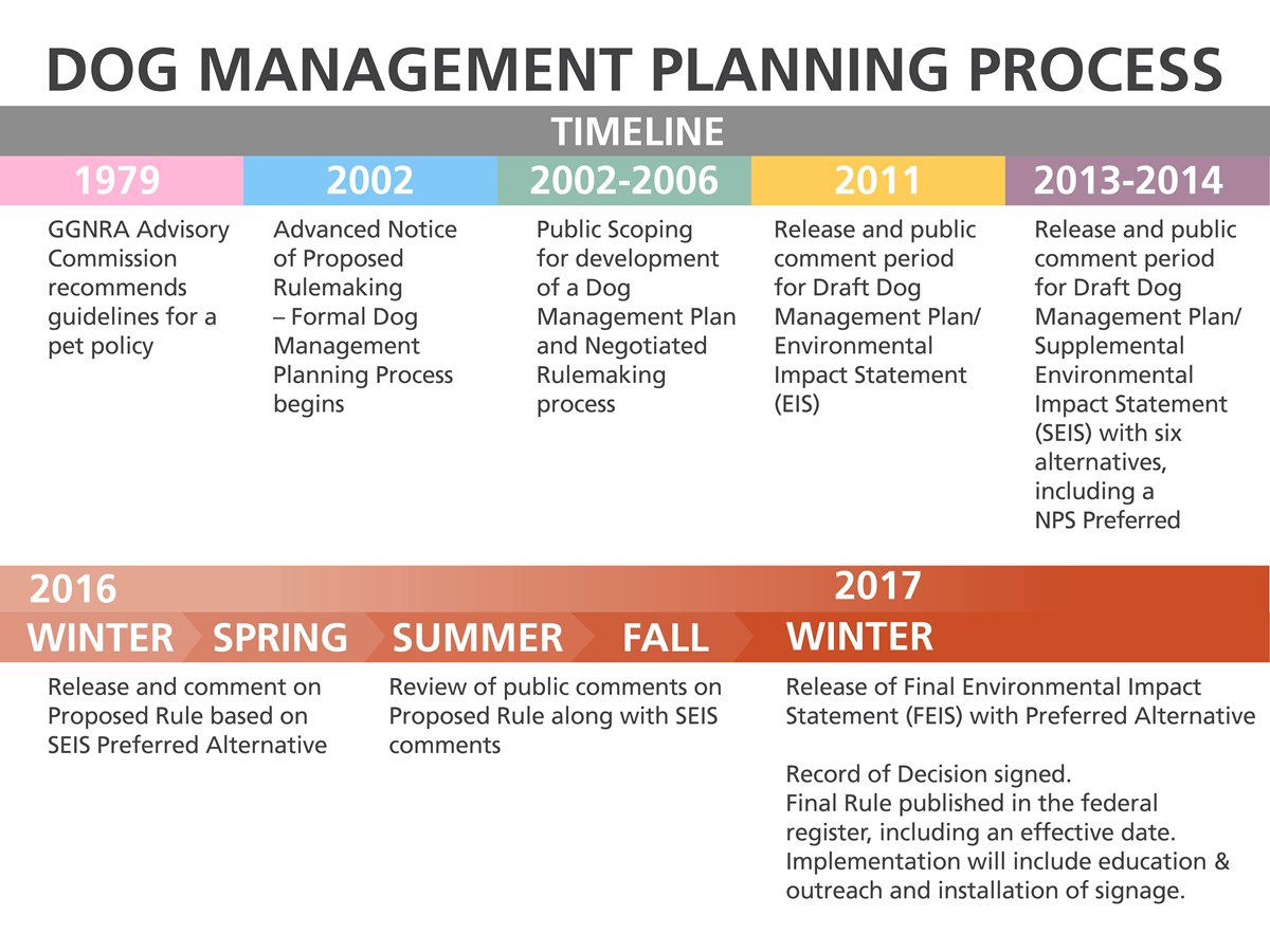 timeline of the dog management planning process