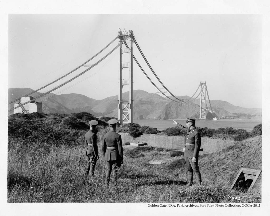 the golden gate bridge mid construction circa 1935 absolutely surreal 1024x819