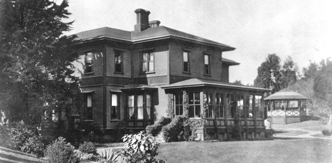 historic view of Fort Mason commanding officer's residence