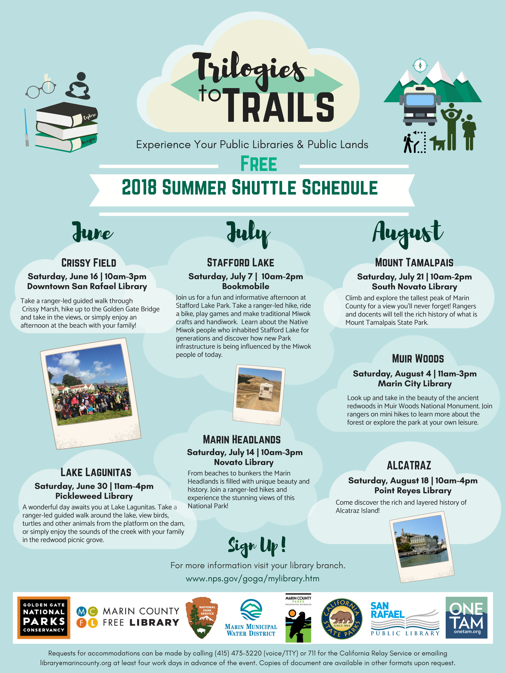 Program flier for Trilogies to Trails