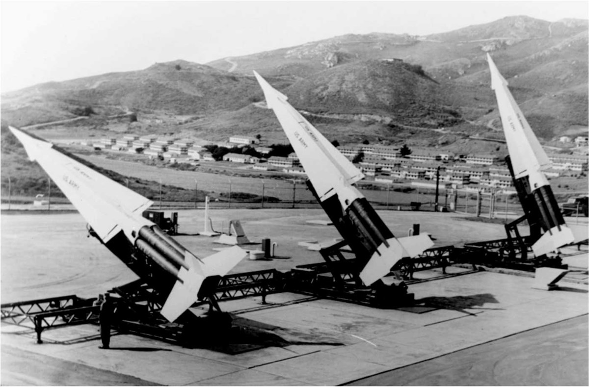 Nike missiles poised to launch, Marin Headlands.