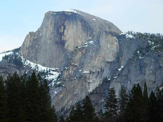 Half Dome is composed of granodiorite.