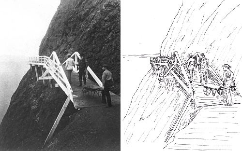 Muybridge photo and drawing made from it