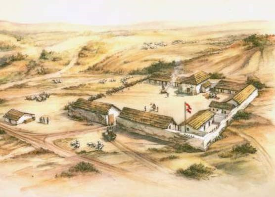 Artist rendering of the Presidio in 1790