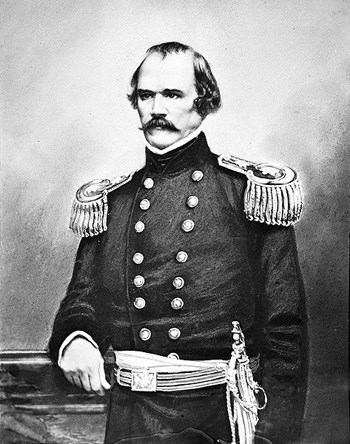 historic  image of Albert Sidney Johnston in military dress