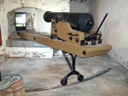 photo of a Howitzer gun at Alcatraz today