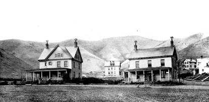 historic image of Fort Baker's commanding officers residence and post headquarters