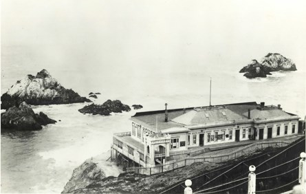 historic image of the original Cliff House