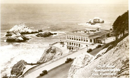 historic photo of the third Cliff House