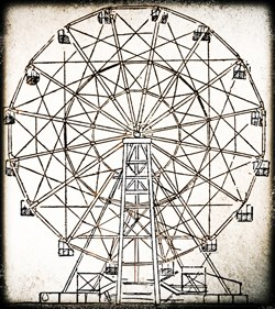 illustration of historic ferris wheel