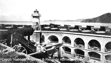 historic photo of the top of Fort Point